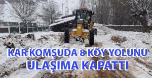 8 Köy Yolu Ulaşıma Kapandı