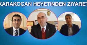Karakoçan Heyeti Başkan Dumandağ'ı Ziyaret Etti