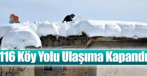 Kar 116 Köy Yolunu Kapattı