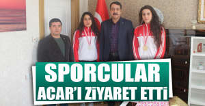 Madalya Kazanan Sporculardan Acar'a Ziyaret