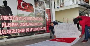 Mehmetçiğe 15 Metre Uzunluğundaki Mektupla Destek