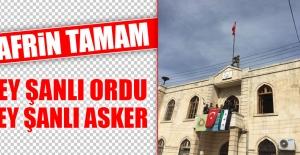 Afrin#039;de Türk Bayrakları Dalgalanıyor