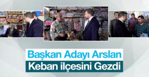 Arslan, Seçime Günler Kala Çalışmalarını Sürdürüyor