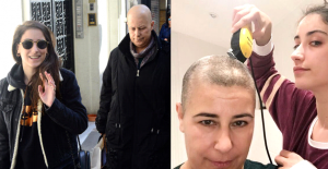 Kanser Hastası Annesinin Saçlarını Kazıyan Hazal Kaya, Desteğini Bir Dakika Esirgemiyor