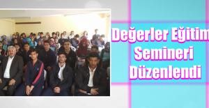 Keban'da Değerler Eğitimi Semineri Verildi