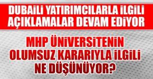 MHP İl Başkanı Demir, Dubaili Yatırımcılarla İlgili Açıklama Yaptı