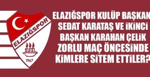 Sedat Karataş ve Karahan Çelik Açıklama...