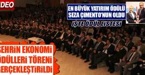 """SEZA ÇİMENTO """"EN BÜYÜK YATIRIM""""  ÖDÜLÜ ALDI"""