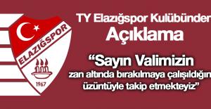 TY Elazığspor Kulübünden Açıklama!