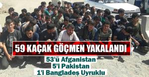 59 Kaçak Göçmen Yakalandı