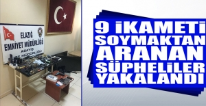 9 Ayrı Hırsızlıktan Aranan Şüpheliler Yakalandı