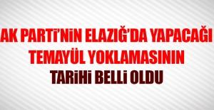AK Parti'nin Elazığ'da Yapacağı Temayül Yoklaması Tarihi Belli Oldu