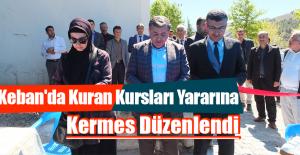 Keban'da Kuran Kursları Yararına Kermes Düzenlendi