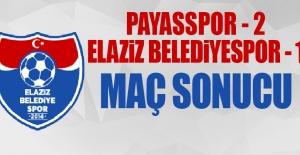 Payasspor - Elaziz Belediyespor Karşılaşması Sonucu