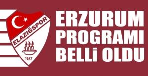 TY Elazığspor Cuma Günü Erzurum'a Gidecek