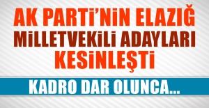 AK Parti#039;nin Elazığ Listesi...