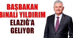 Başbakan Binali Yıldırım Elazığ'a Geliyor