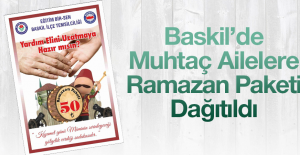 Baskil'de Ramazan Yardımı Yapıldı