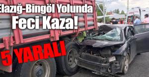 Elazığ-Bingöl Yolunda Feci Kaza!