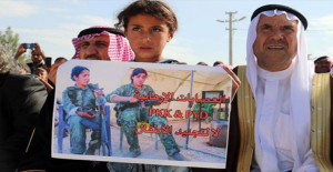 Haseke'de Terör Örgütü YPG/PKK'ya Karşı Gösteri Düzenledi