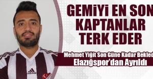 Mehmet Yiğit Sözleşmesini Fesih Etti