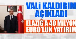 Vali Kaldırım 40 Milyon Euro'luk Yatırımı Açıkladı