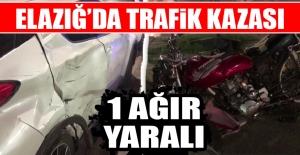 Elazığ'da Feci Motor Kazası! 1 Ağır Yaralı