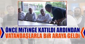 Eski İçişleri Bakanı Ağar, Sahalarda