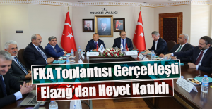 Fırat Kalkınma Ajansı Toplantısı Tunceli'de Yapıldı