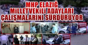 Seçime 16 Gün Kala MHP Adayları Çalışmalarını Sürdürüyor