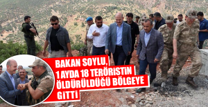 Bakan Soylu, 18 Teröristin Öldürüldüğü Bölgeye Gitti
