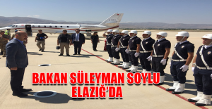 Bakan Soylu Elazığ'da