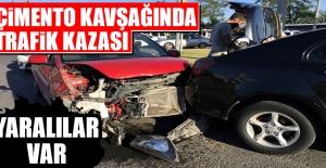 Çimento Kavşağında Trafik Kazası Meydana Geldi