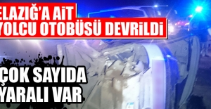 Elazığ'a Ait Yolcu Otobüsü Devrildi