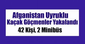 Elazığ'da 42 Kaçak Göçmen Yakalandı