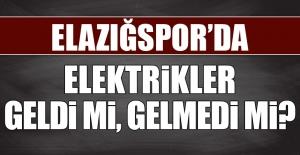 Elazığspor#039;da Elektriklerin...
