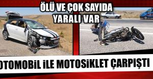 Otomobil İle Motosiklet Çarpıştı,...