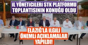 STK Toplantısında Elazığ#039;la...