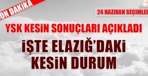 YSK Elazığ'ın Kesin Sonuçlarını Açıkladı