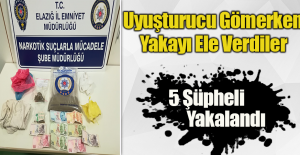 5 Şüpheli Uyuşturucuyu Gömerken Yakalandı