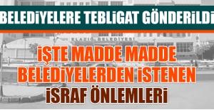 AK Partili Belediyelere İsraf Tebligatı Gönderildi
