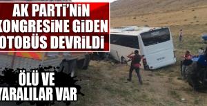 AK Parti'nin Kongresine Giden Otobüs Devrildi