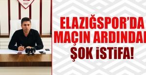Elazığspor'da Maçın Ardından Şok İstifa!