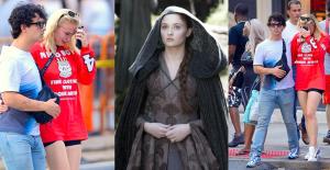 Game of Thrones'un Sansa'sı Periyodik Döneme Yenildi, Sokak Ortasında Ağlama Krizine Girdi