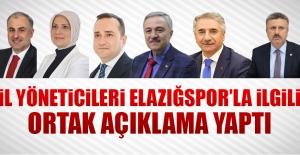 İl Yöneticilerinden Elazığspor#039;la...