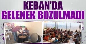 Keban'da Gelenek Bozulmadı