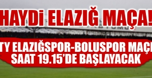 TY Elazığspor-Boluspor Maçı Saat 19.15'de Başlayacak