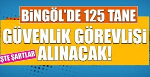 Bingöl'de 125 Güvenlik Görevlisi Alınacak!