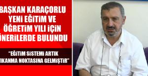 """""""EĞİTİM SİSTEMİ ARTIK TIKANMA NOKTASINA GELMİŞTİR"""""""
