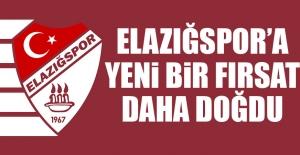 Elazığspor'a Yeni Bir Fırsat Daha Doğdu